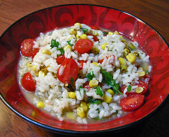 Risotto With Tomato, Corn And Basil Recipes — Dishmaps