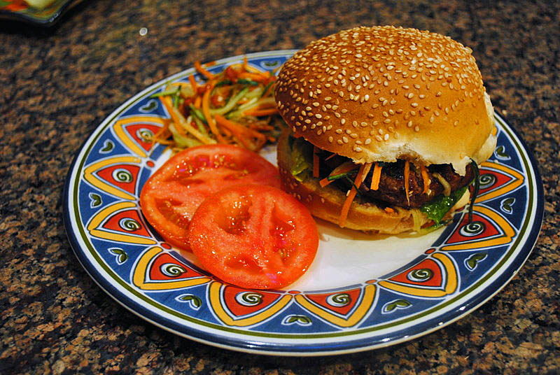 KOREAN BARBECUE BURGER | Bewitching Kitchen