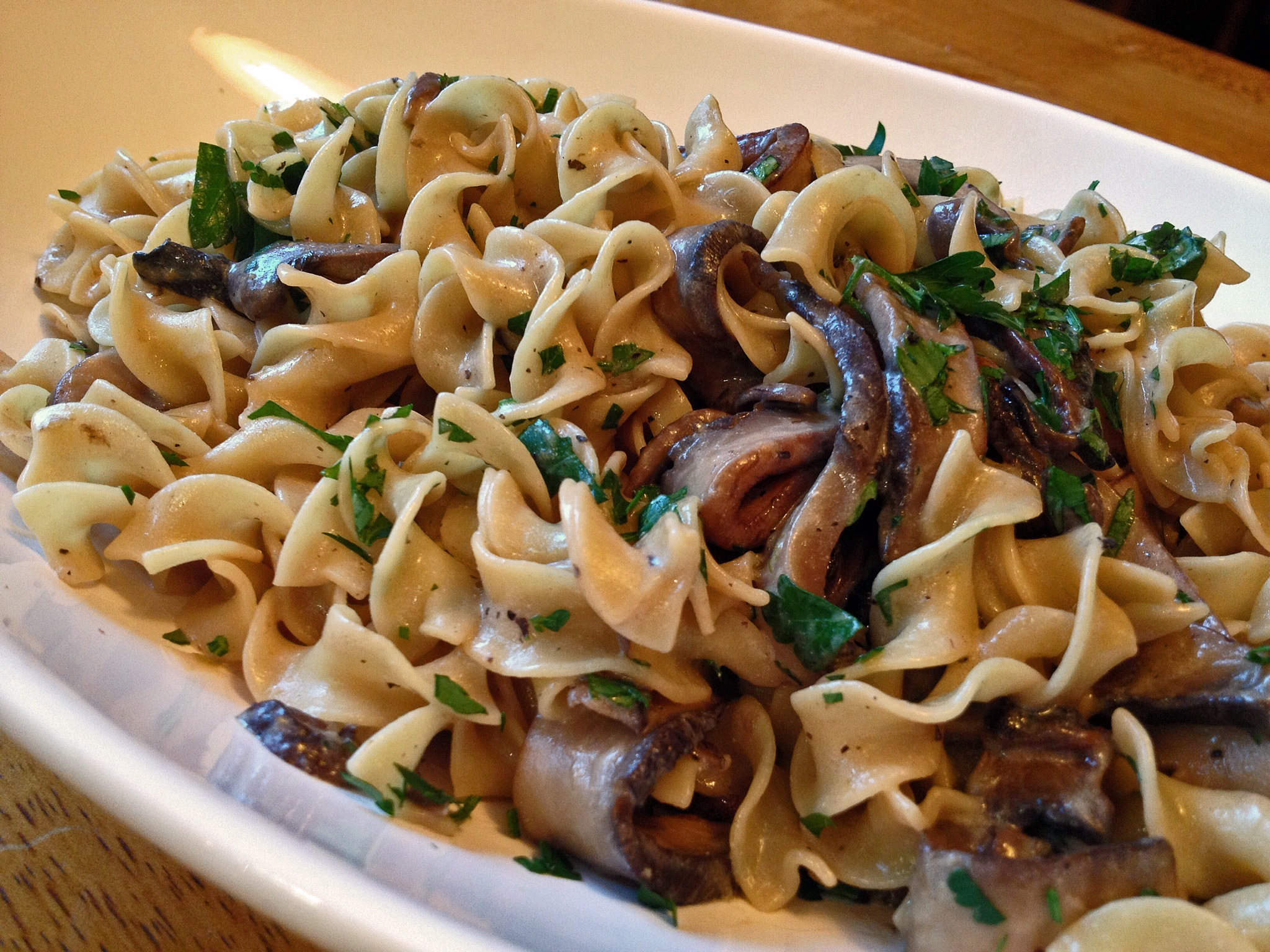 MUSHROOM STROGANOFF WITH GOAT CHEESE