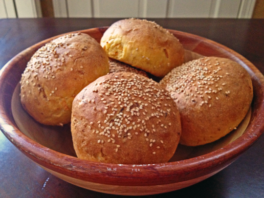 Carrot and Cumin Hamburger Buns
