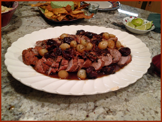 Pork with Prunes in Pineapple Glaze