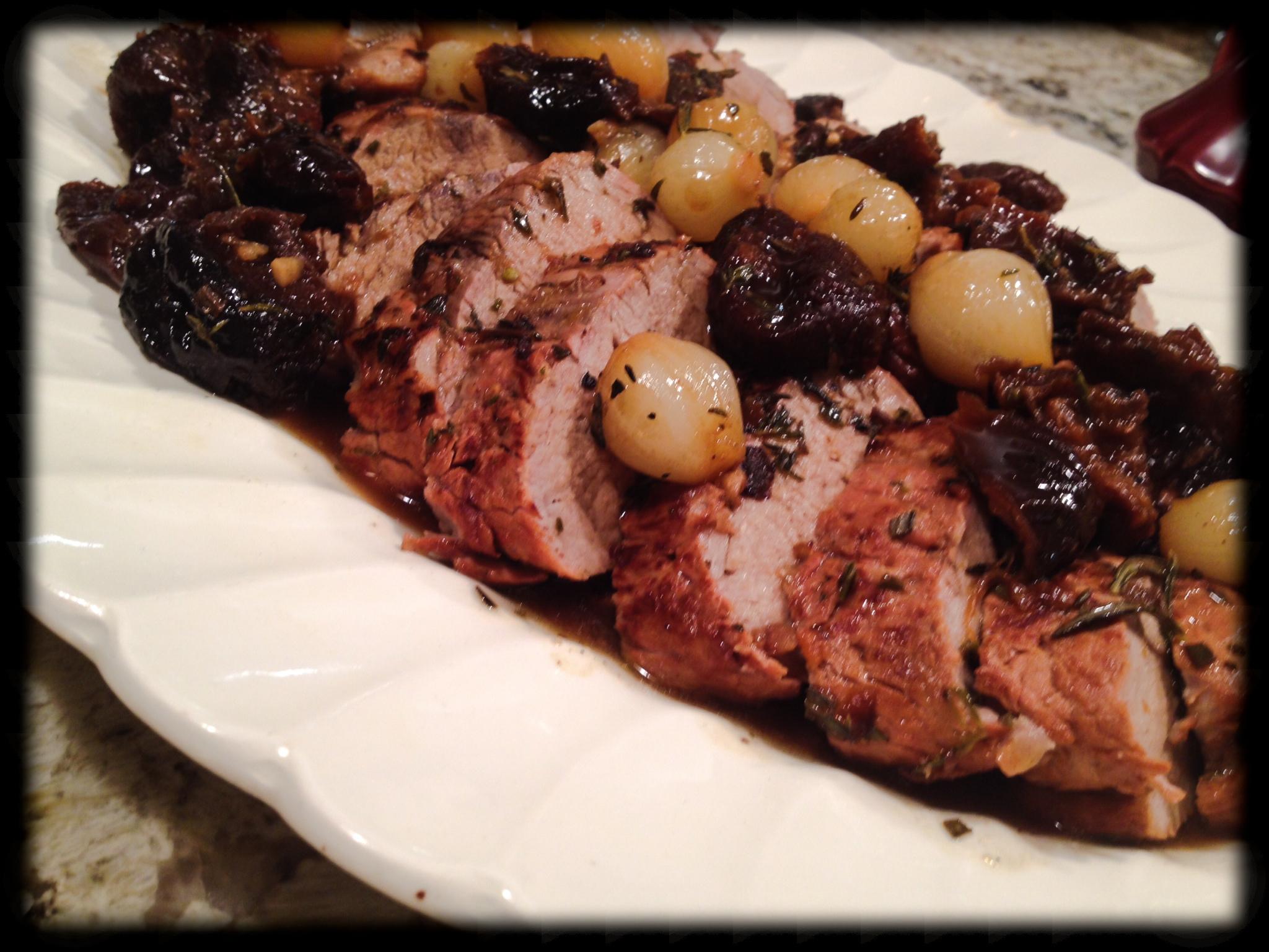 pork roast with boozy prunes recipes dishmaps pork roast with boozy ...