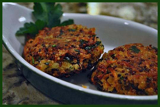 Quinoa Sweet Potato Cakes1