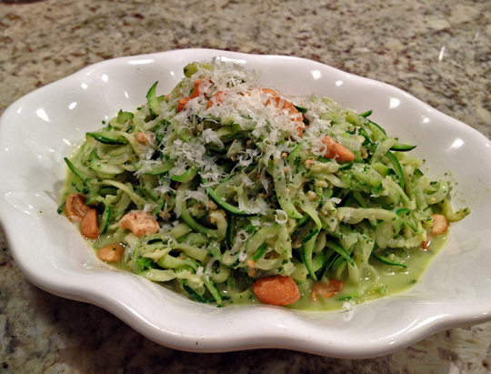 Zucchini Pasta with Cashew Pesto