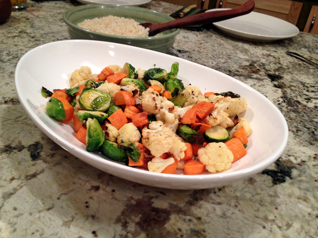 Roasted Vegetables with Miso-Lime Glaze