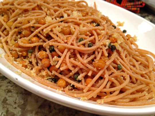 Pasta with Roasted Chickpeas and Capers
