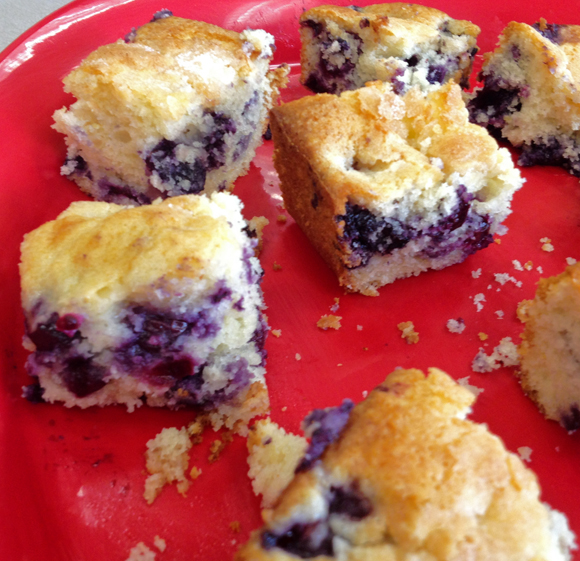 Lots of blueberries make this cake moist and quite crumbly. Make sure ...