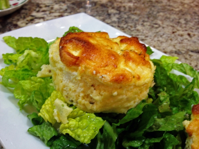 Herbed Goat Cheese Souffle