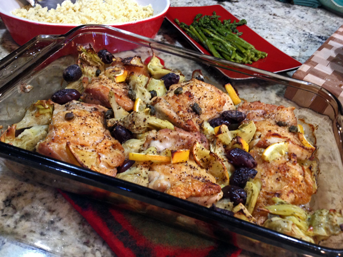 Chicken Thighs With Artichokes And Capers Bewitching Kitchen