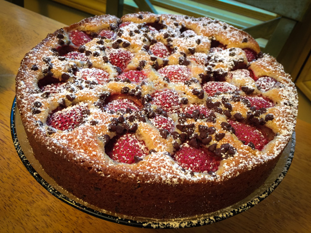 Strawberry Choc Chip Cake