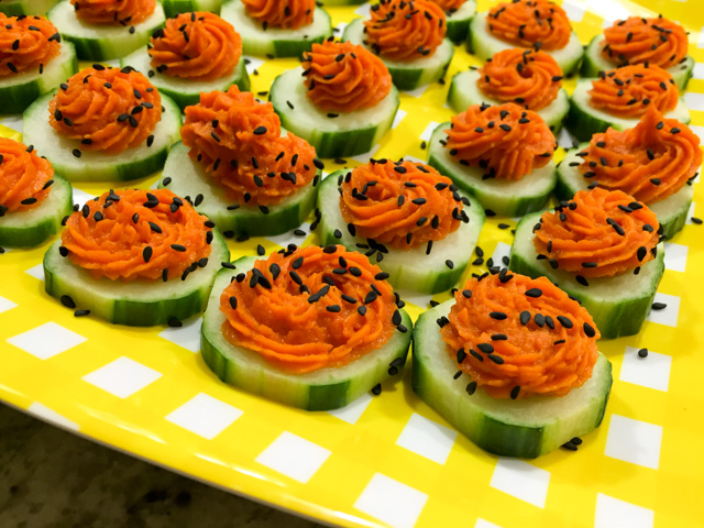 Carrot Dip Cucumber