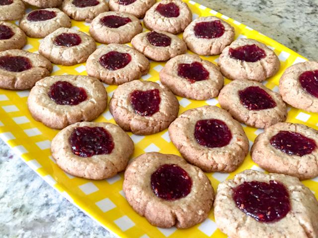 Pecan Raspberry Thumbprint Cookies-3