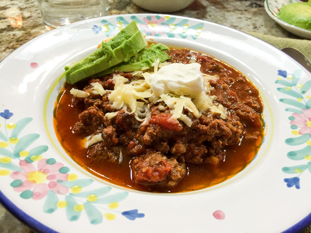 Bison Chili served