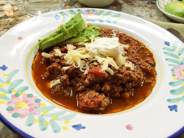 Bison Chili served