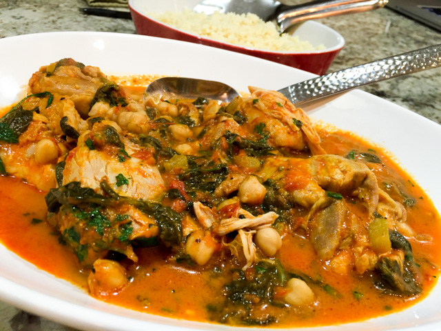 INDIAN SPICED CHICKEN WITH CHICKPEAS AND SPINACH   Bewitching Kitchen