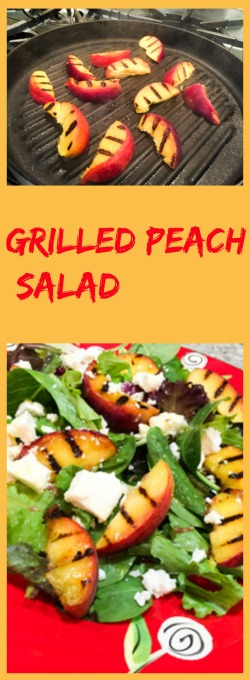 Grilled Peach Salad, from Bewitching Kitchen