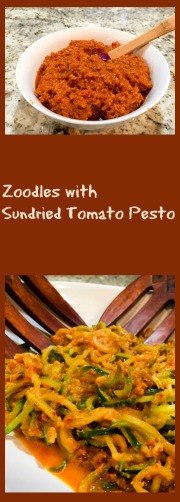 Zoodles with Sundried Tomato Pesto