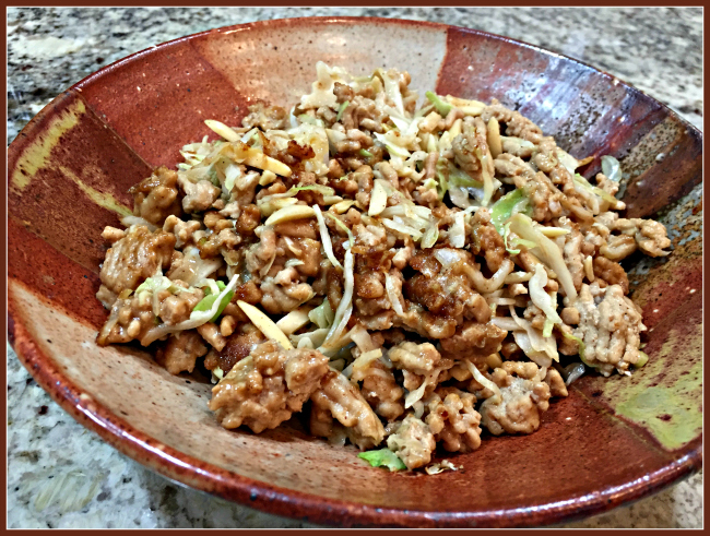 STIR-FRIED CHICKEN AND CABBAGE WITH SPICY ALMOND SAUCE | Bewitching ...