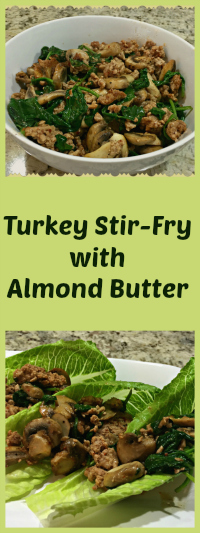 Turkey Stir-fry with Almond Butter, from Bewitching Kitchen